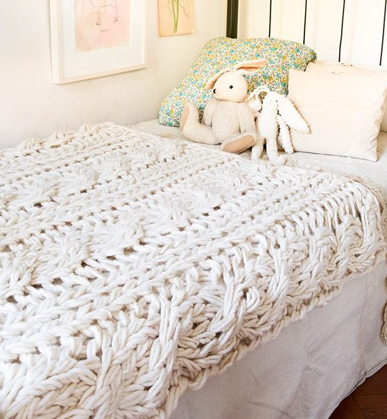 Knitting Pattern for Arm Knit Cable Blanket   Crafts   Pinterest ...