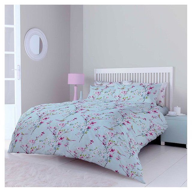 morrisons morrisons blossom double duvet set product. Black Bedroom Furniture Sets. Home Design Ideas
