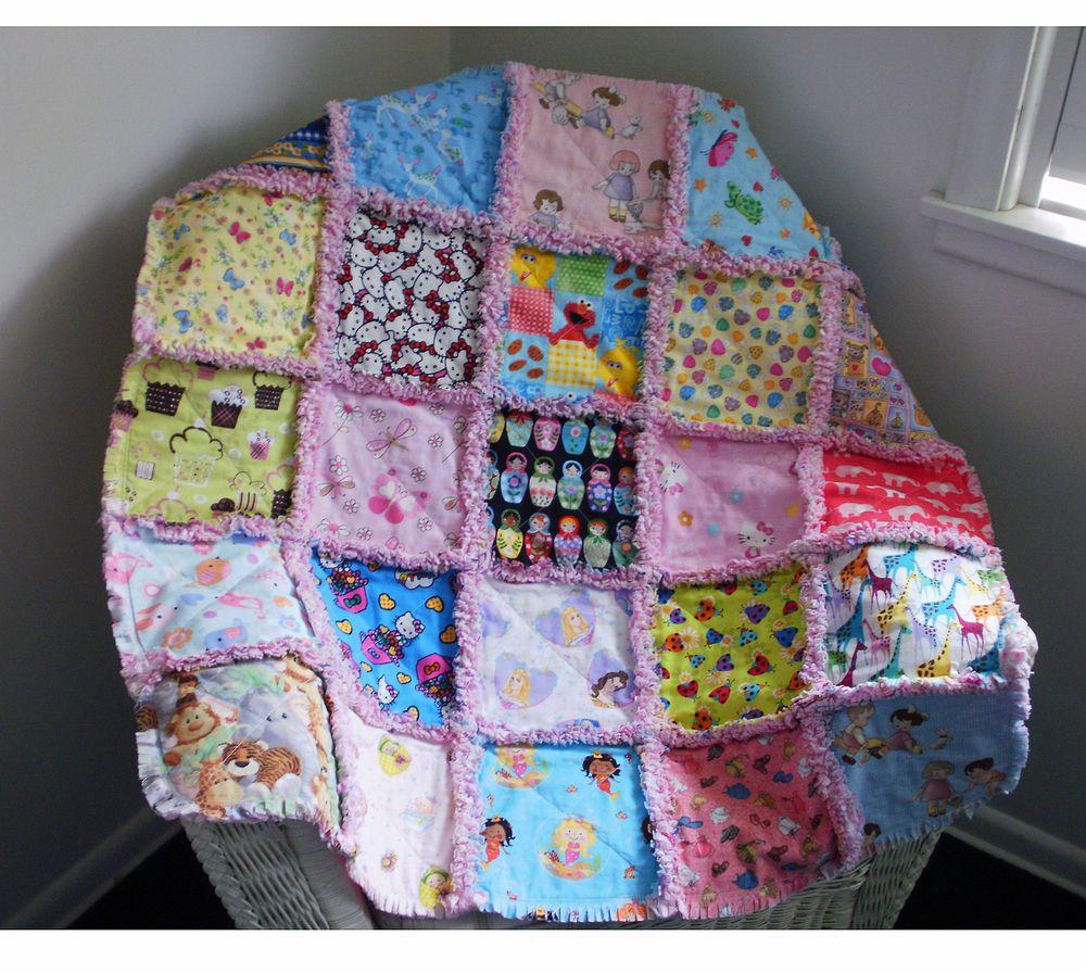 girls i-spy rag quilt blanket #baby toddler big bird elmo hello ... : elmo quilt - Adamdwight.com