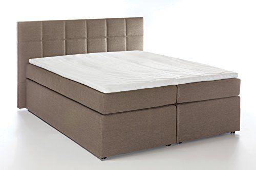 Möbelfreude® Boxspringbett Bea Beige grau 100x200 cm H3 inkl - schlafzimmer günstig online kaufen