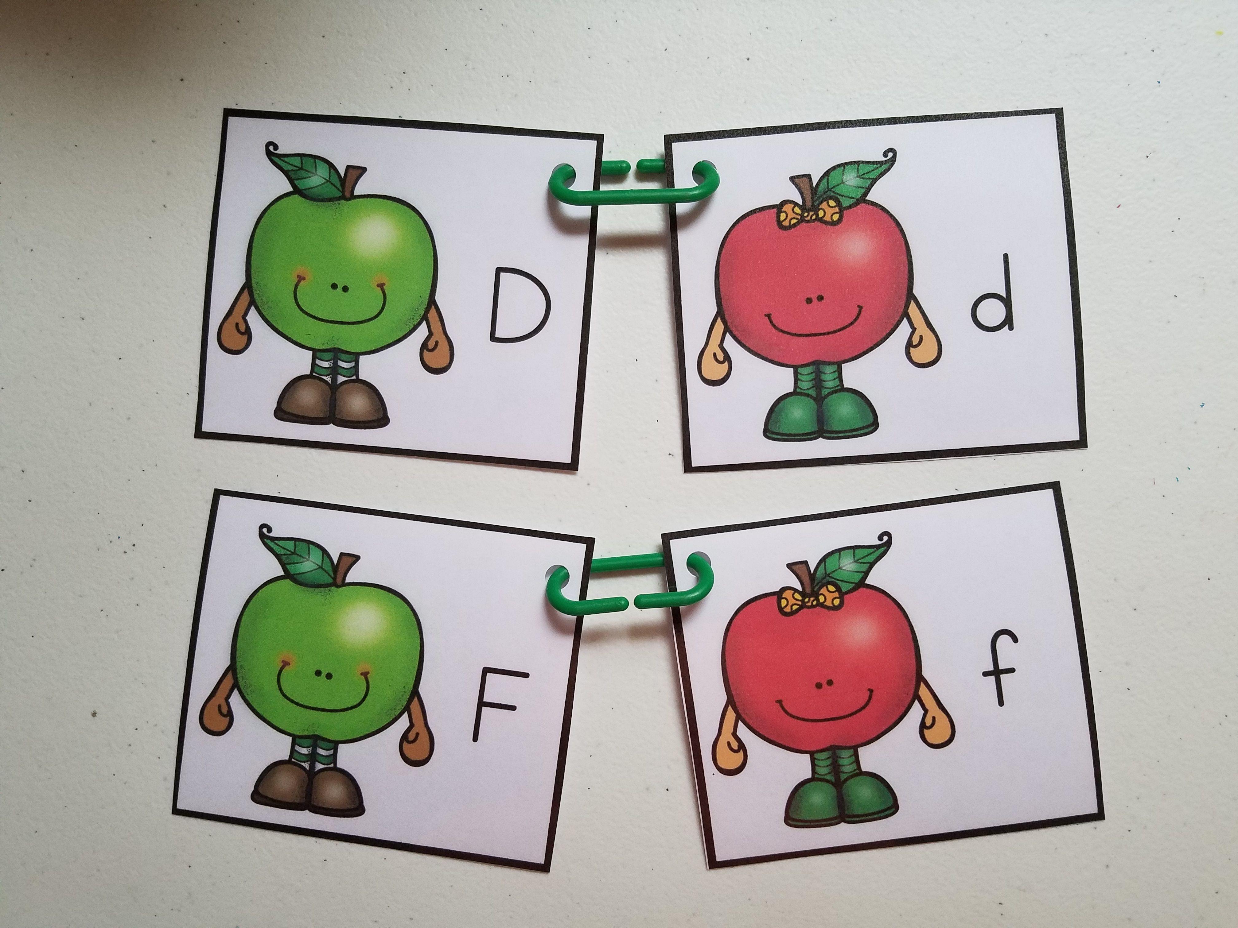 Free Apple Match It Alphabet Center