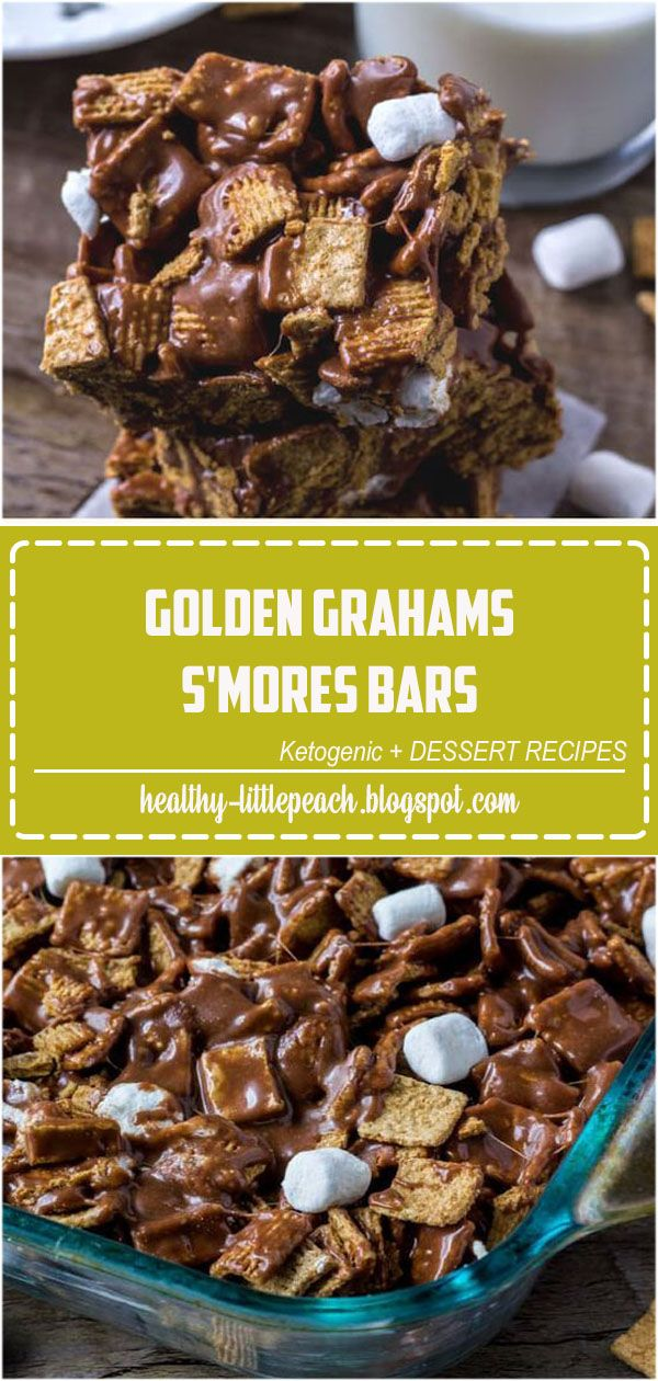 Golden Grahams S'Mores Bars These golden grahams s'mores bars will be your new favorite way to enjoy s'mores. Gooey, chewy, crunchy and filled with chocolate.