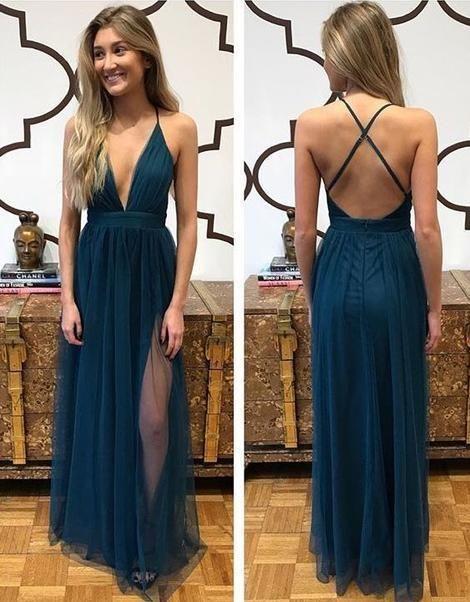 Deep V-neck Sexy Long Prom Dress Custom Made Formal Dress Fashion Winter Dance Dress   CR 906 3