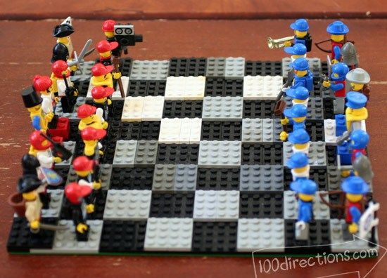 Diy Lego Chess Game Board And Pieces Lego Chess Lego