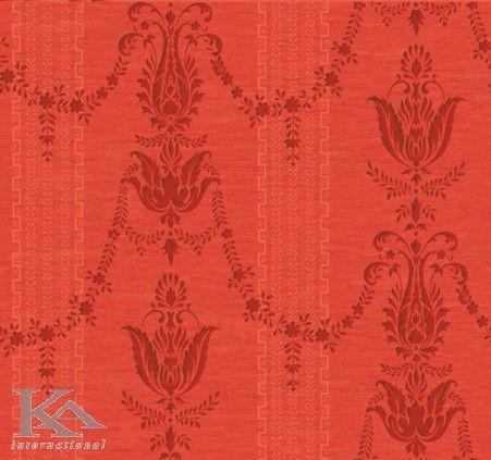 #Tapet #CHANDLER, damasc cu dungi in stil clasic, in culori auriu, rosu.  http://www.ka-international.ro/tapet.html
