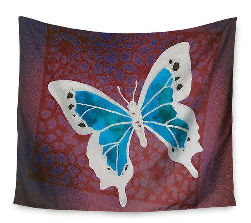 Teal Flutter by Padgett Mason Wall Tapestry