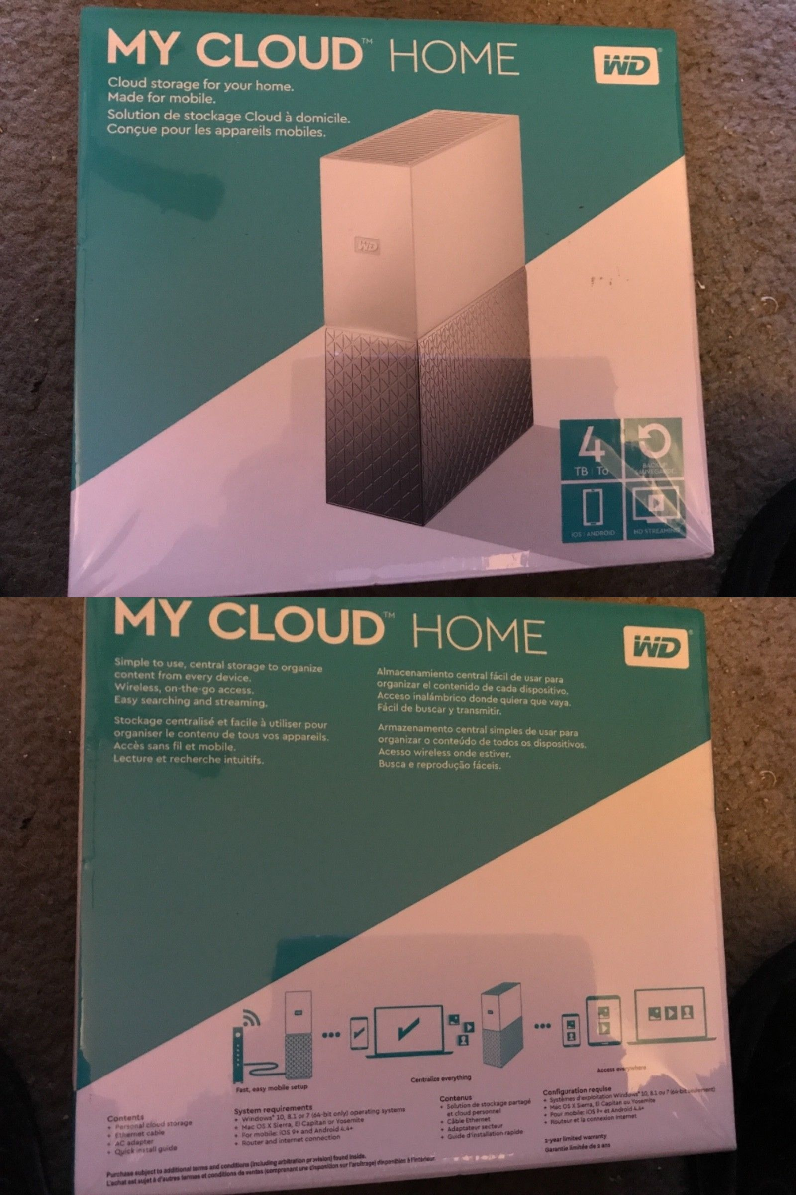 Network Attached Storage 106273: Wd - My Cloud Home 4Tb