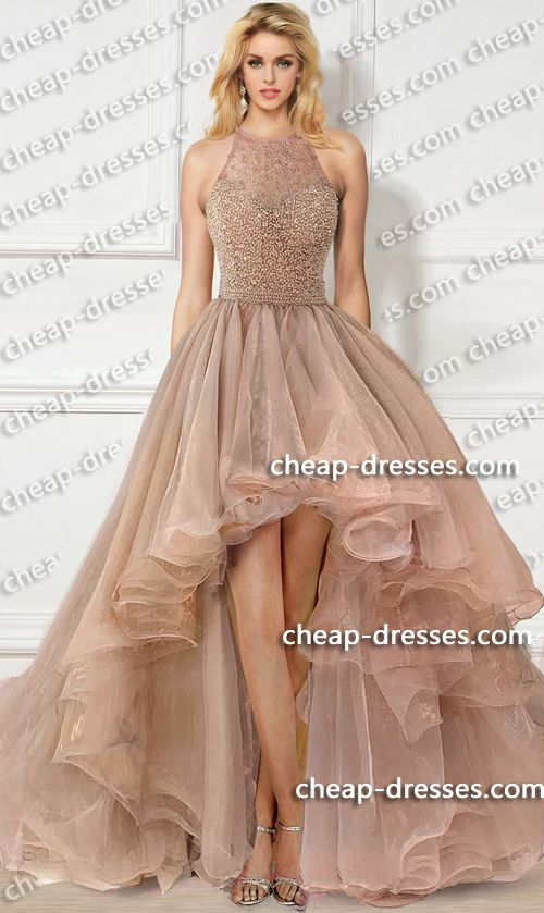 33903625016b fabulous beaded high-neck halter top high-low layered organza prom dress.prom  dresses,formal dresses,ball gown,homecoming dresses,party dress,evening ...