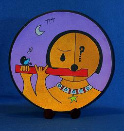 "SOLD - ""El flautista ...""!  #Marcello de ""Costa Rica.  Explore other #Mango-Tango #Ceramics today!"