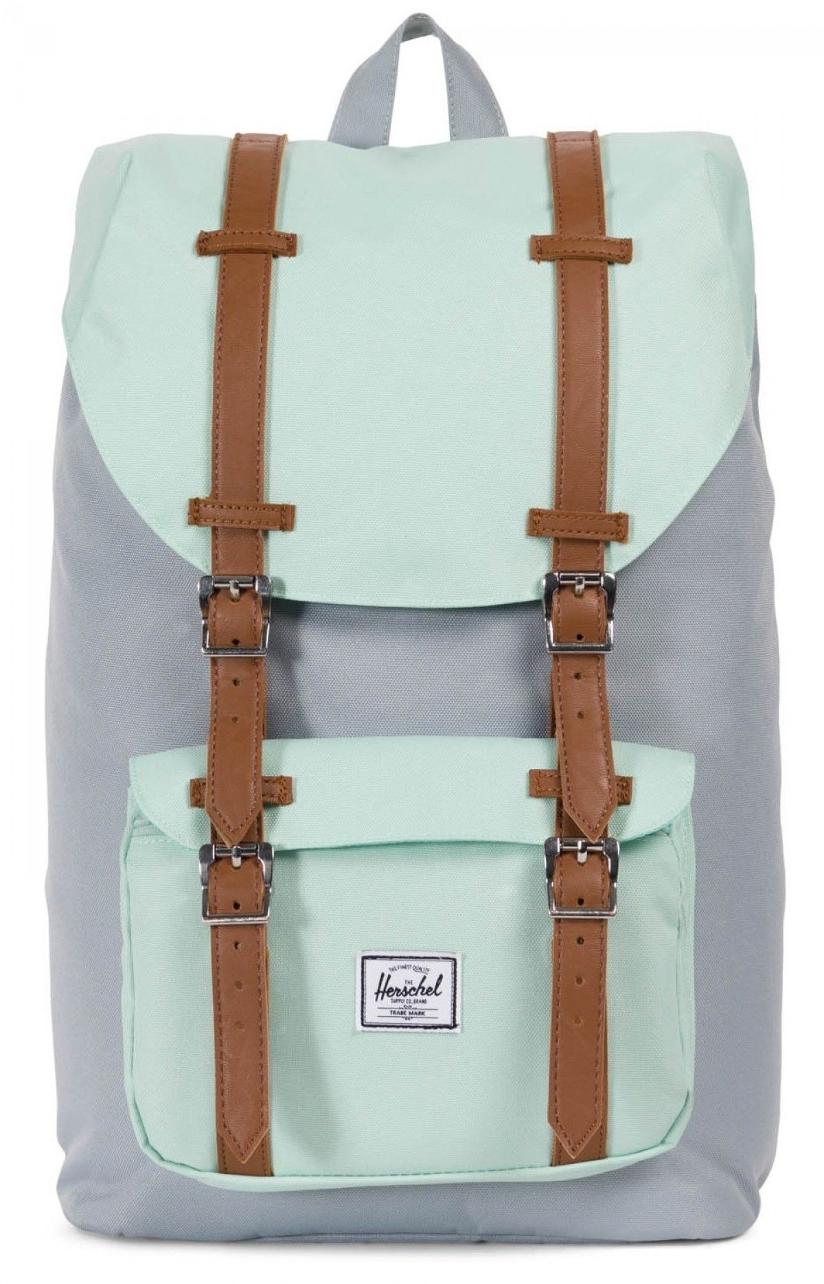 79dc4043892 Herschel Little America Mid Backpack 600D Poly Quarry Yucca Tan ...