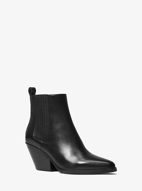f7078dd2c2 Elaine Leather Open-toe Boot | Michael Kors | Women's fashion in ...