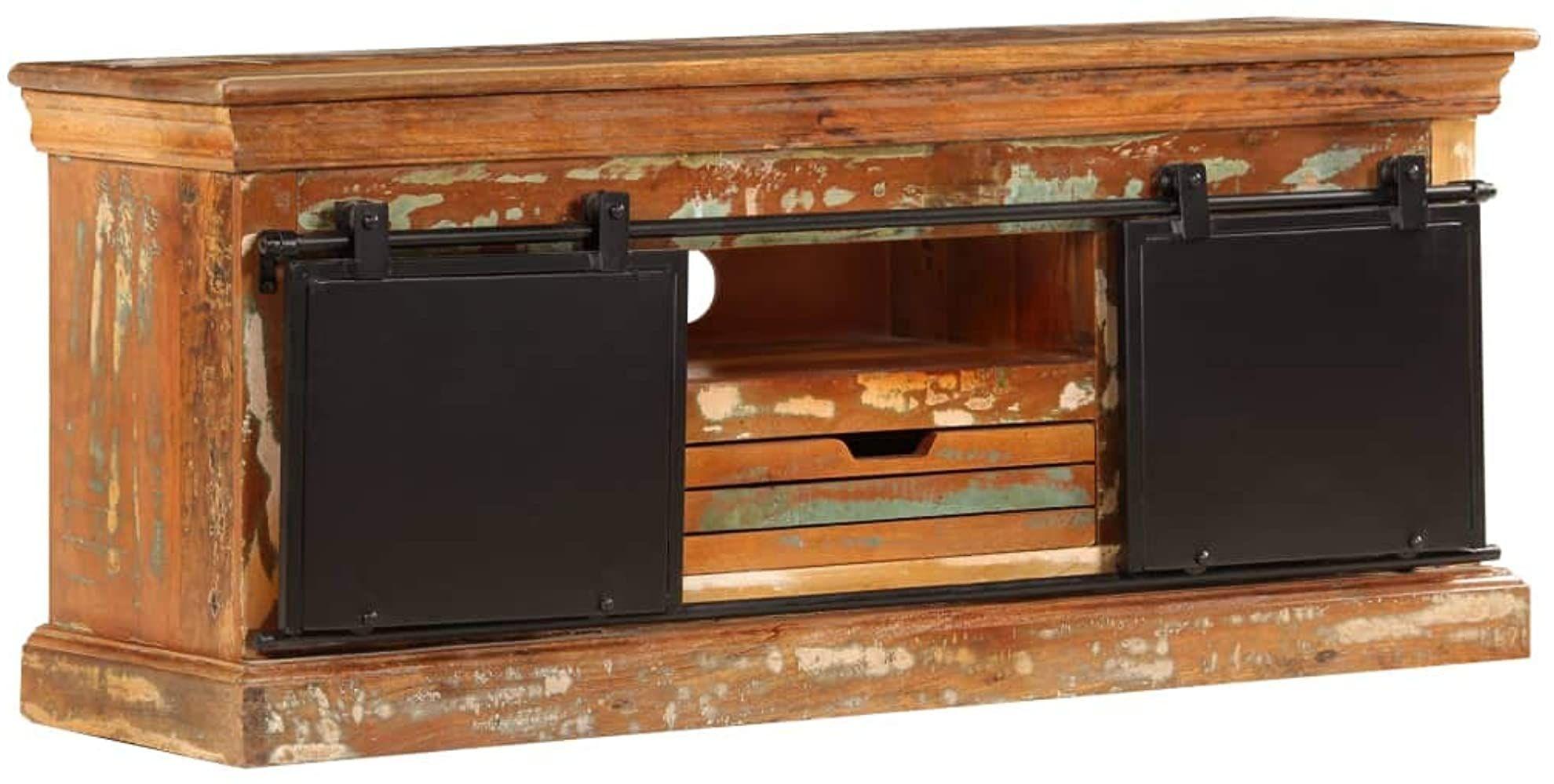 Festnight Tv Schrank Vintage Fernsehtisch Tv Lowboard Tisch