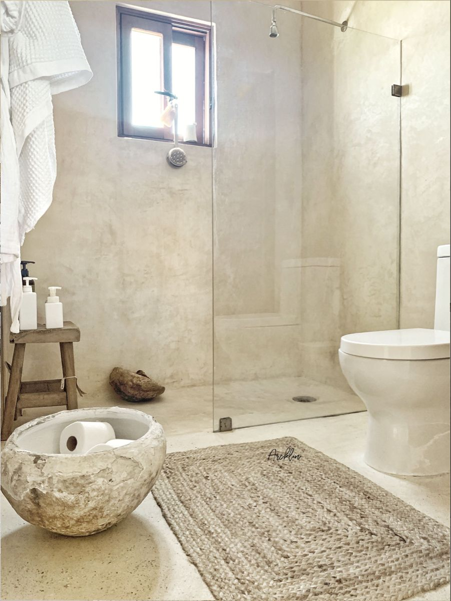 Casa Coconut With Rooftop Patio Tiny Pool Apartments For Rent In Tulum Quintana Roo Mexico In 2020 Spanish Style Bathrooms Home Room Design Natural Bathroom