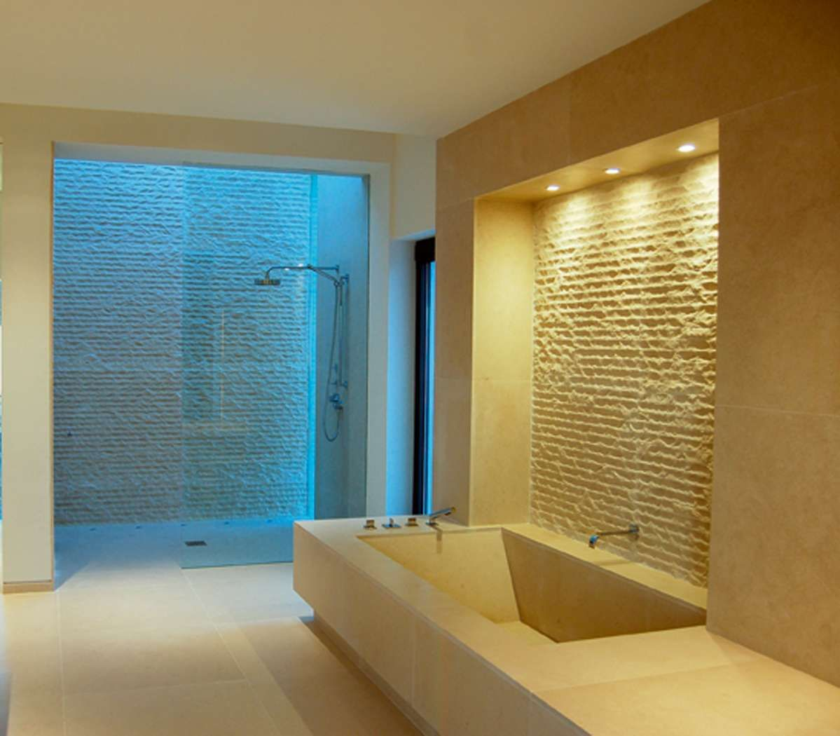 Wet room bathroom design amazing with pics wet room set for Ensuite lighting ideas