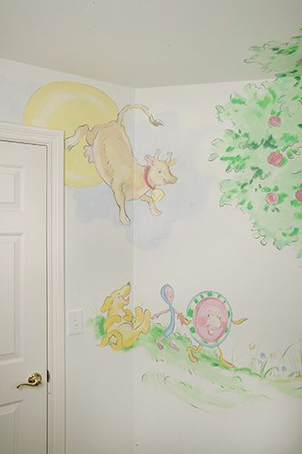 Nursery Wall Murals Hand Painted Custom Baby Wall Murals Newborn