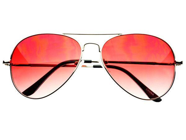 b99513ccf2 Red Lens Retro Metal Aviator Sunglasses Silver A813 – FREYRS - Beautifully  designed