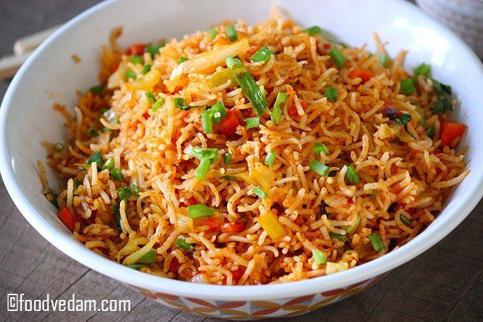 Schezwan fried rice recipe with step by step instructionsugu schezwan fried rice recipe how to make schezwan rice ccuart Image collections