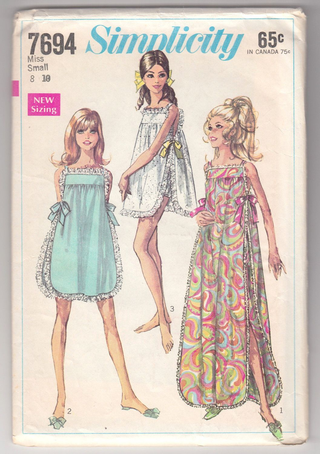 Vintage Sewing Pattern Ladies\' Sexy Night Gown and Panties from ...