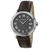 RAYMOND WEIL Watch, Men's Swiss Automatic Maestro Brown Leather Strap 35mm 2837-STC-00609
