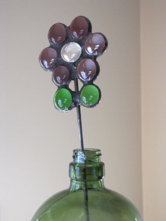 Stained Glass Flower by ArtisticallyGreene on Etsy