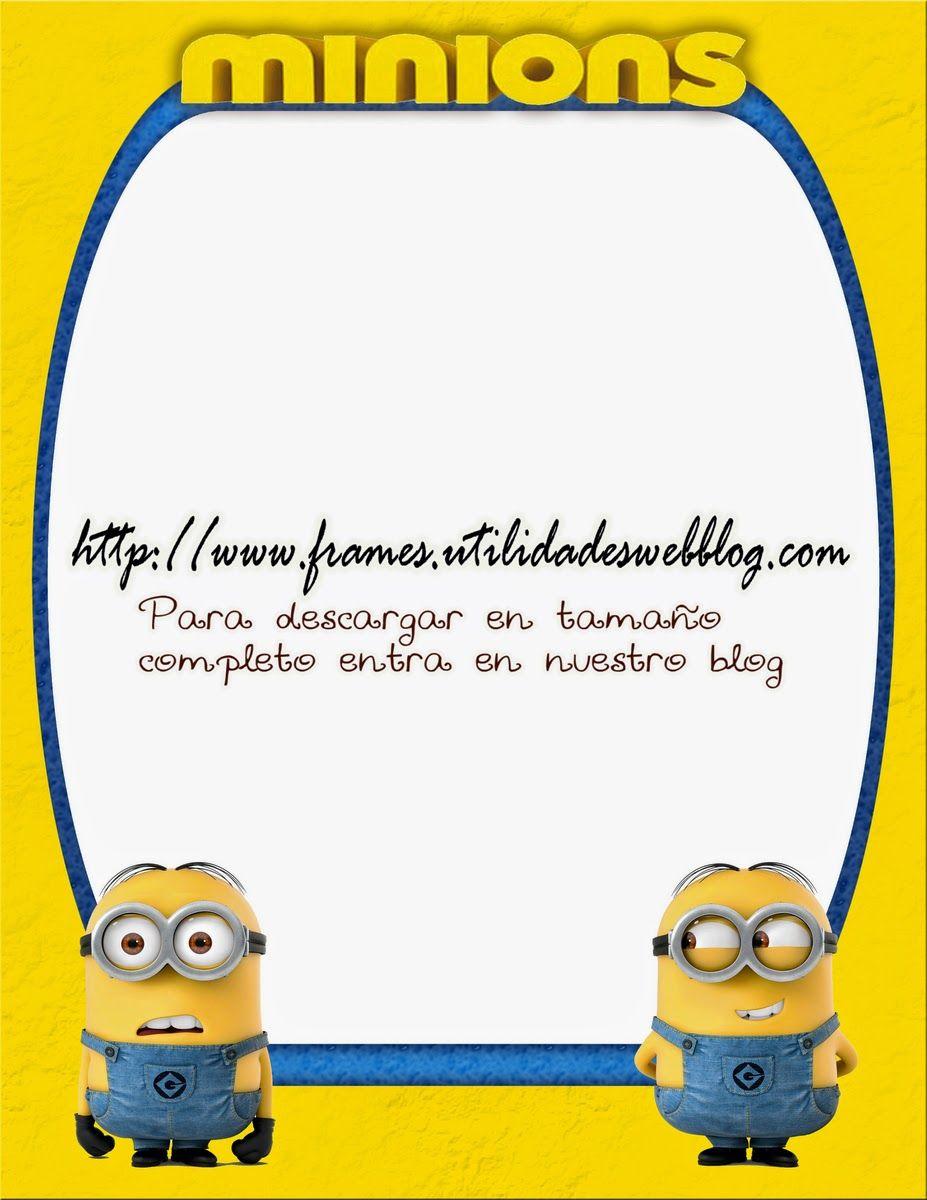 Bonito marco color amarillo inspirado en los Minion | Photo Frames ...