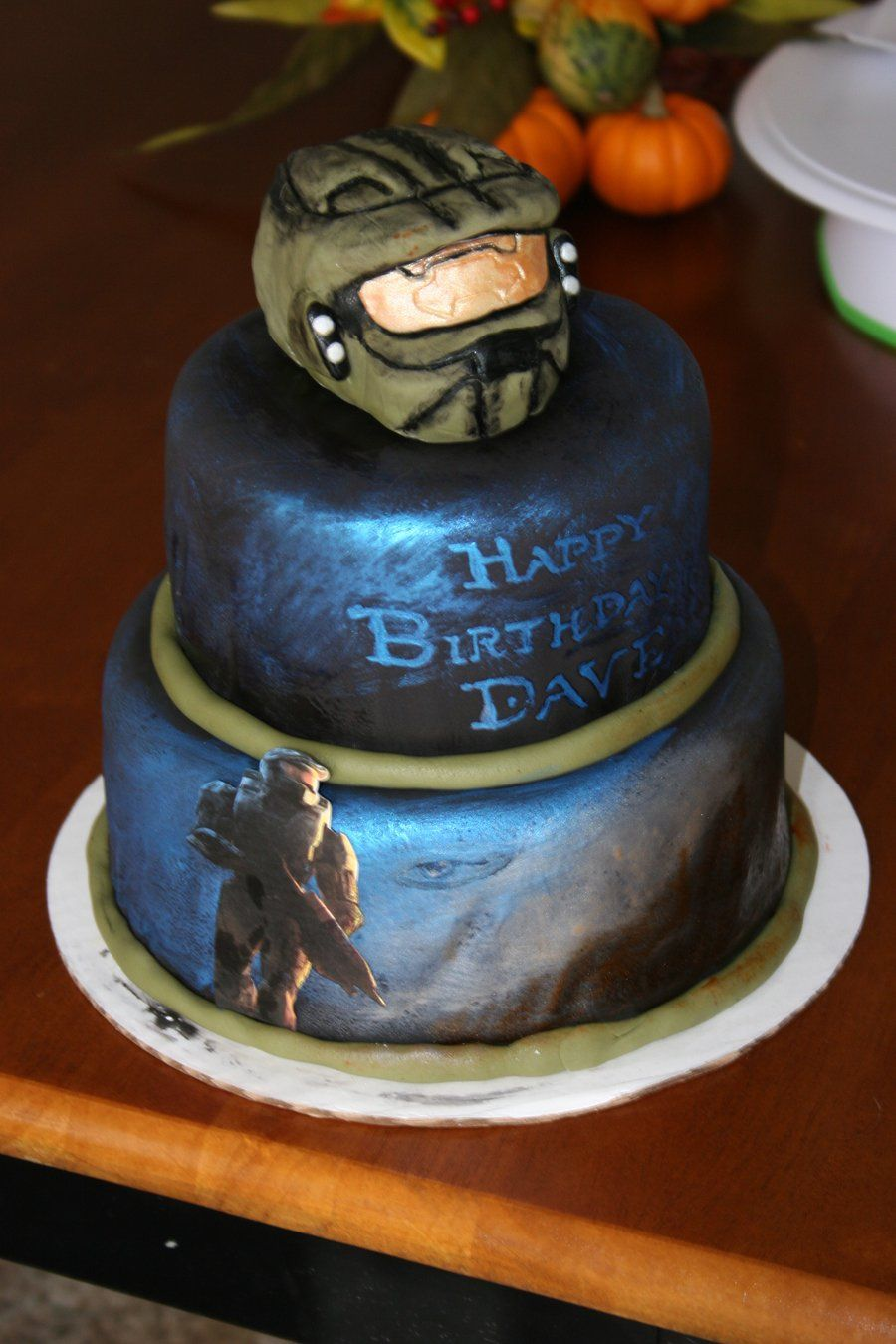Halo Birthday Cake My husbands bf is really into the video game