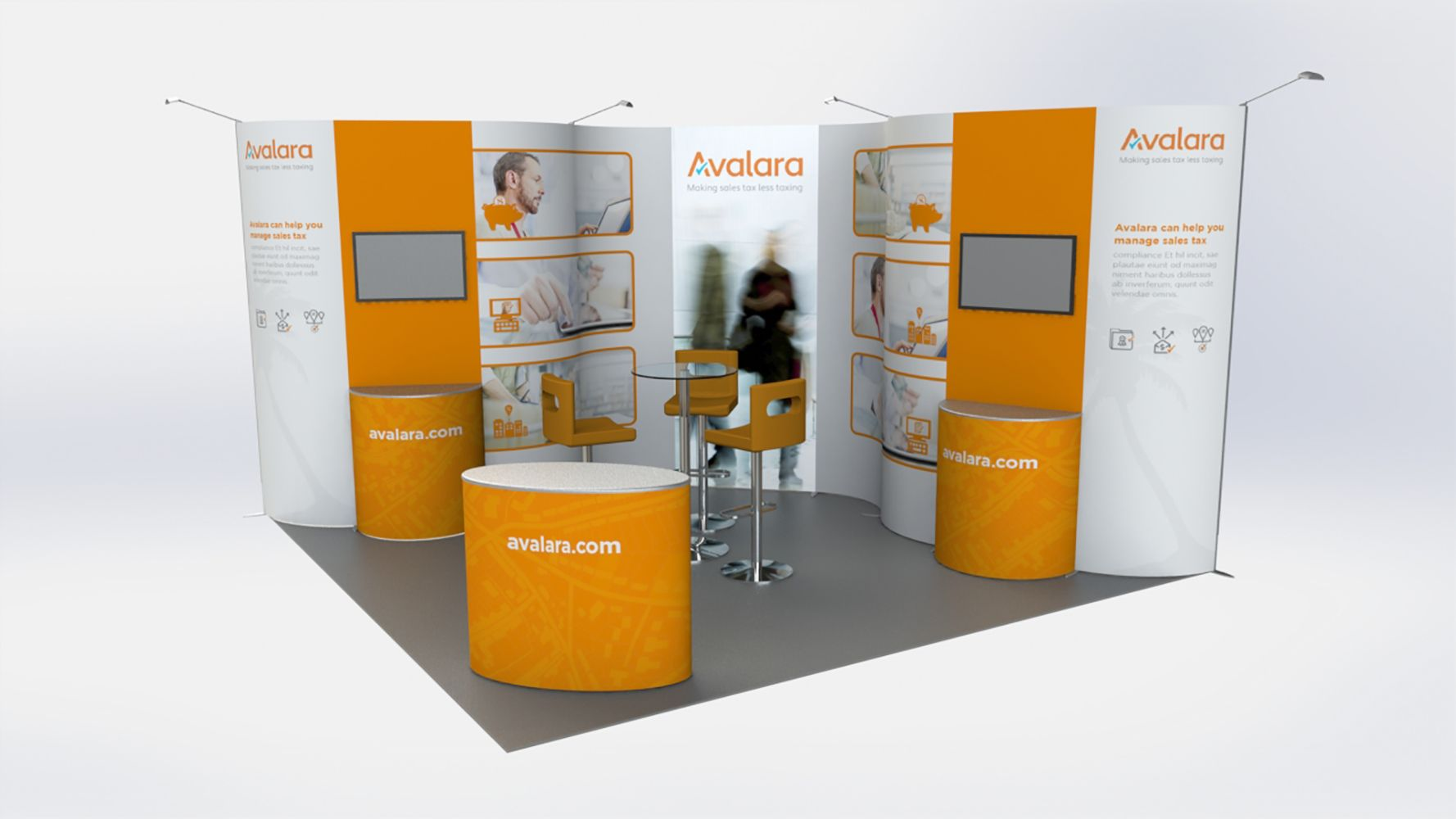Exhibition Stand Visualisation : 3d visualisation of a modular exhibition stand for avalara by vivid