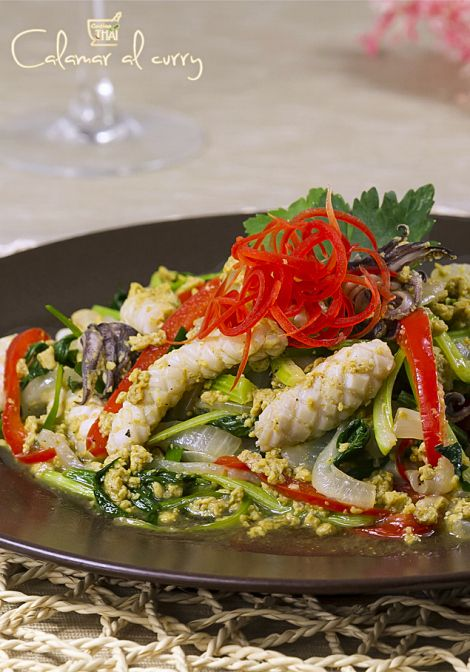 Attractive Calamar Al Curry | Cocino Thai