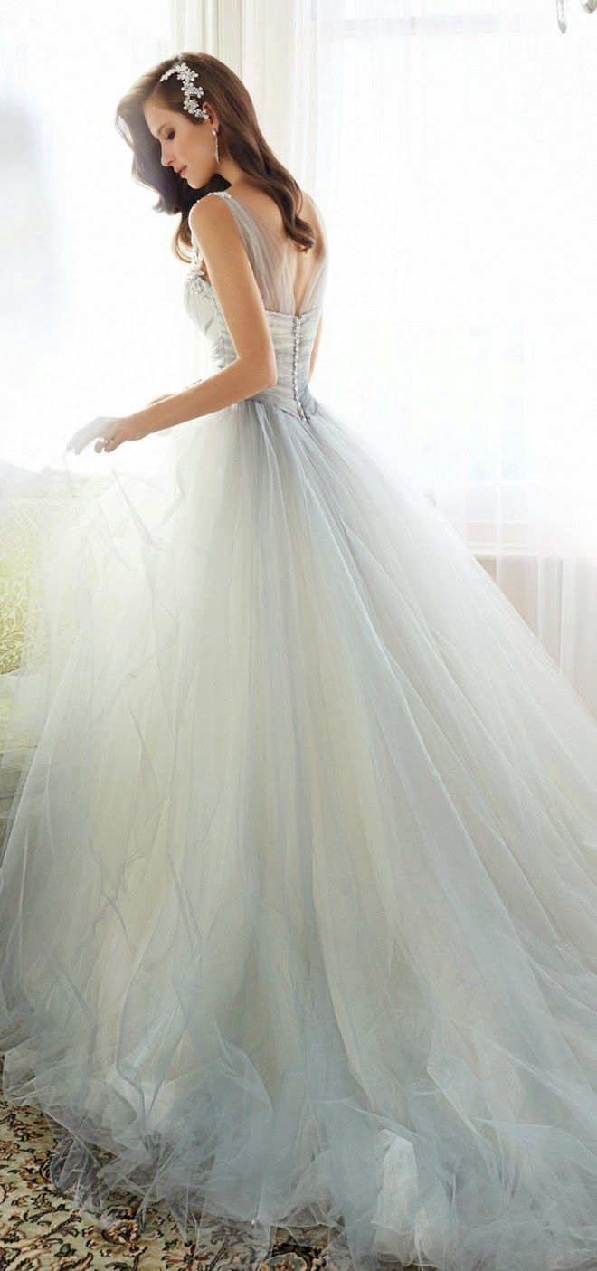 Sophia tolli bridal collection light blue wedding dress