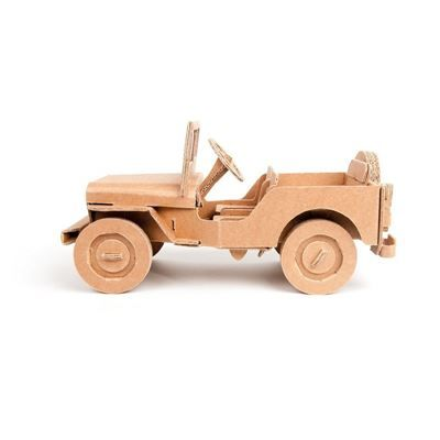Voiture Jeep Willy carton à construire Maquette Leolandia CRÉATION - maquette de maison a construire