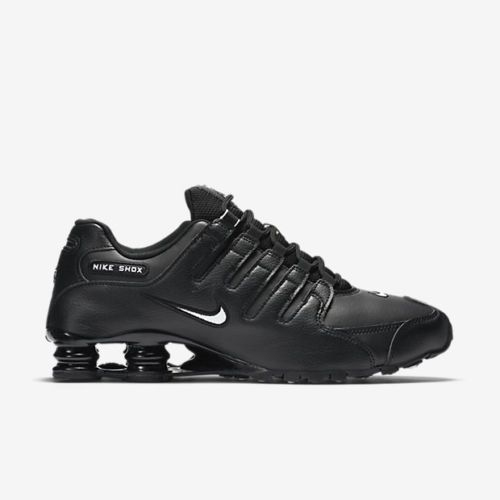 New Nike Men's Shox NZ EU Running Shoes (501524-091) Black/White