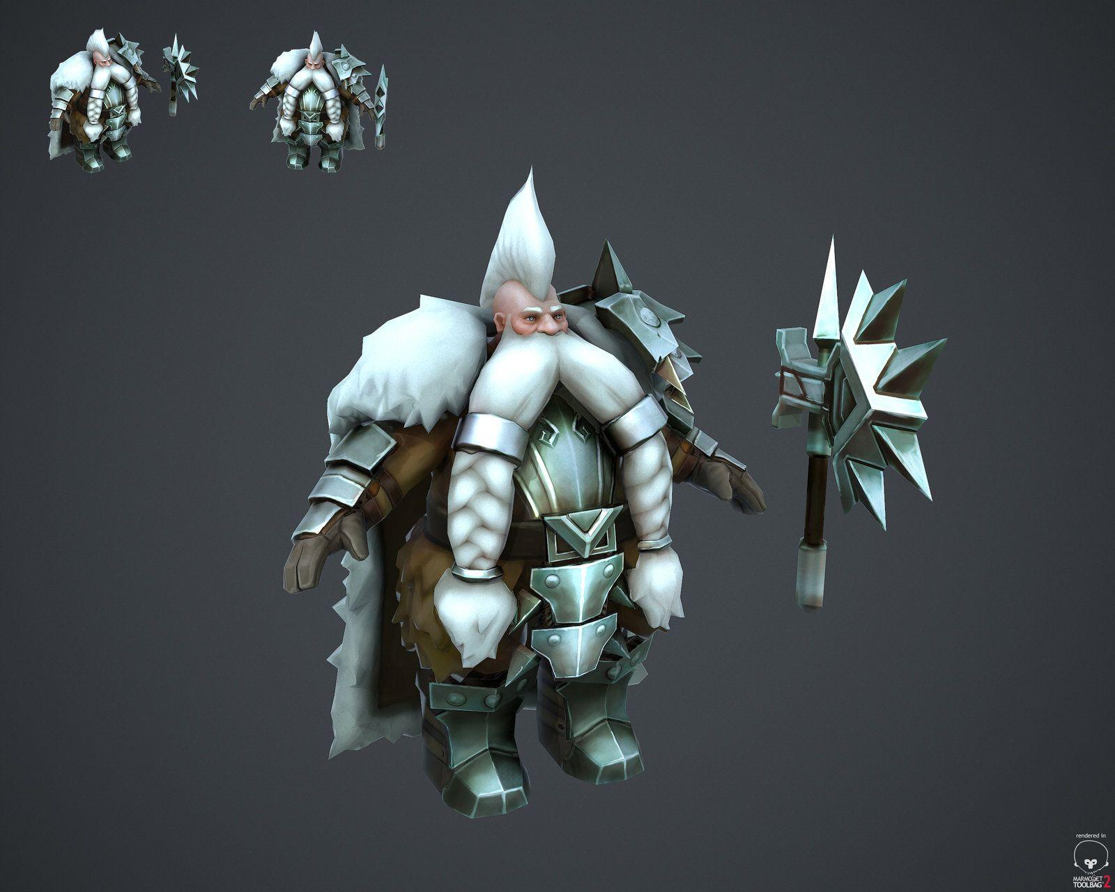Dwarf Hero 3d model, Joel Durham on ArtStation at http://www.artstation.com/artwork/dwarf-hero-3d-model-e78c1f2c-3788-464c-8d85-3d67e0e93e84