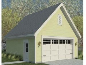 Featured 2 Car Garage Plan With Gable Roof The Garage Plan Shop Garage Plans Detached Garage Plans Garage Plan