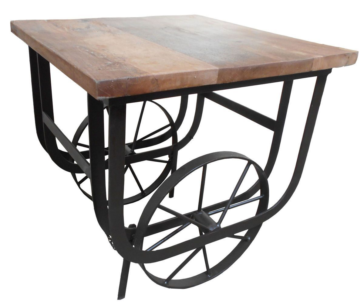 Bremerton End Table With Functional Wheels 3542 04 Elements Of Industrial  Styling Are Appropriated To