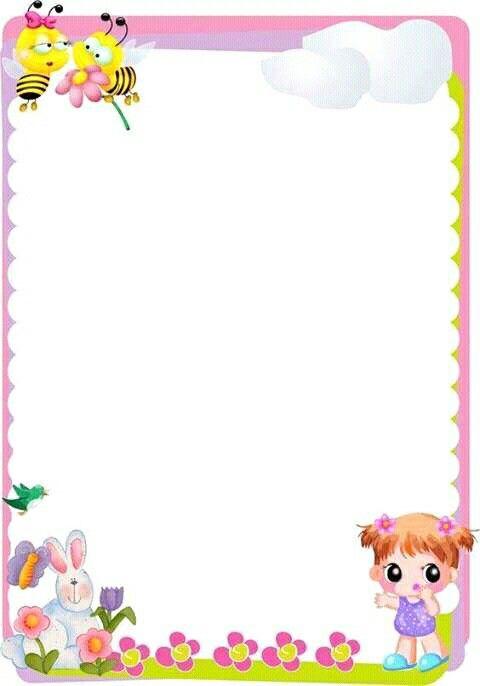 Pin de angela mu oz en logos para carpetas pinterest - Hojas decoradas para ninas ...