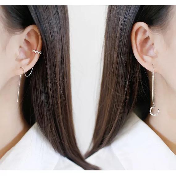 925 Silver Plated /& Crystal Irregular Heart Drop Earrings   Ladies Girls Gift