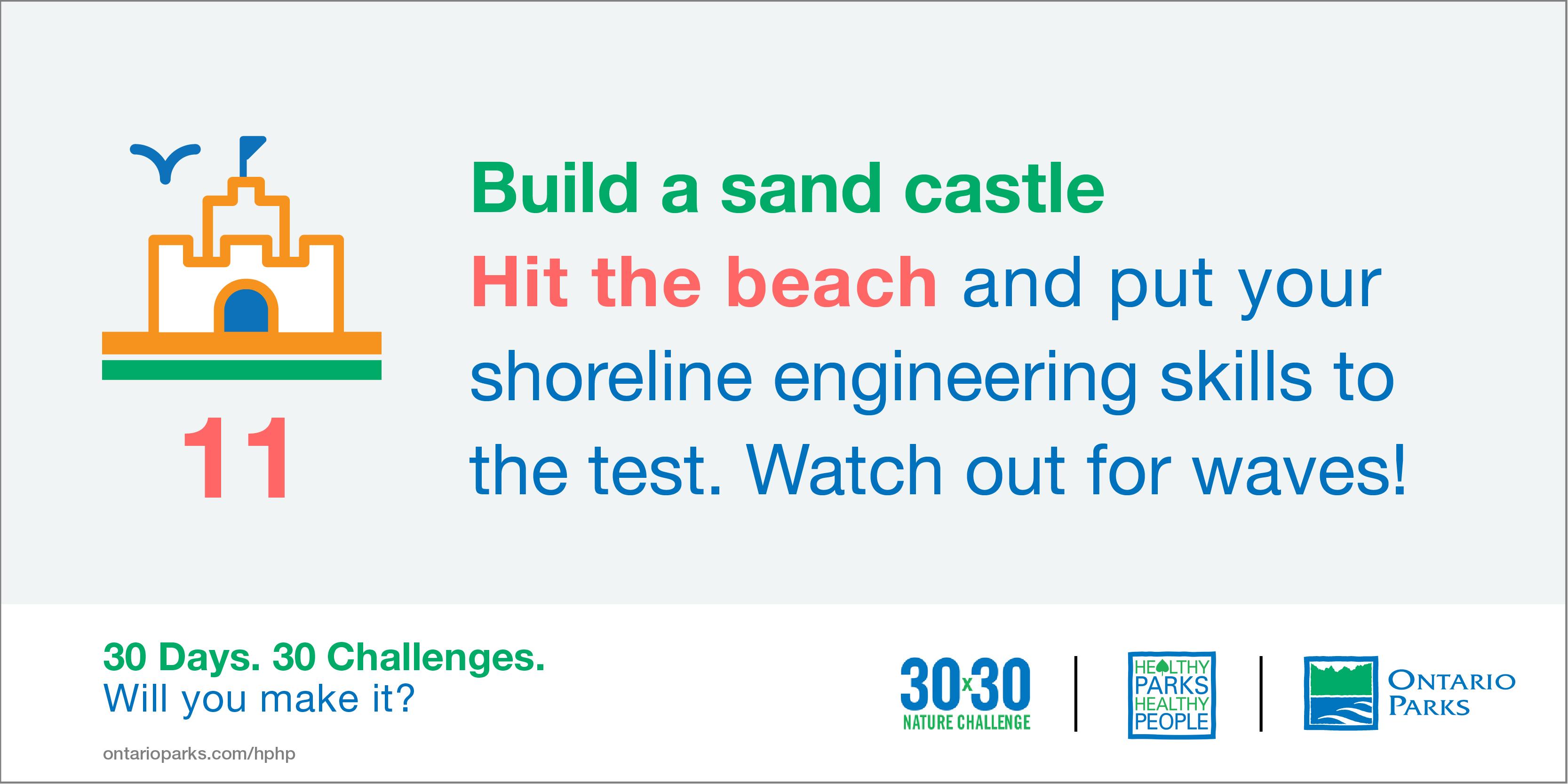 #30x30Challenge: Build a sandcastle