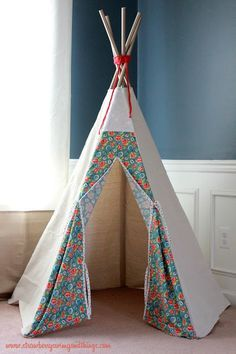 something fun to build tee pee tutorial from strawberry swing and things christmas gift ideas. Black Bedroom Furniture Sets. Home Design Ideas
