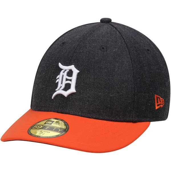 Men's Detroit Tigers New Era Heathered Navy/Orange Change Up Low Profile 59FIFTY Fitted Hat, Your Price: $34.99