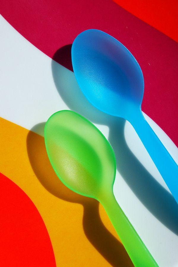 Colorful Spoons: Colorful Picnic, Color, Spoon