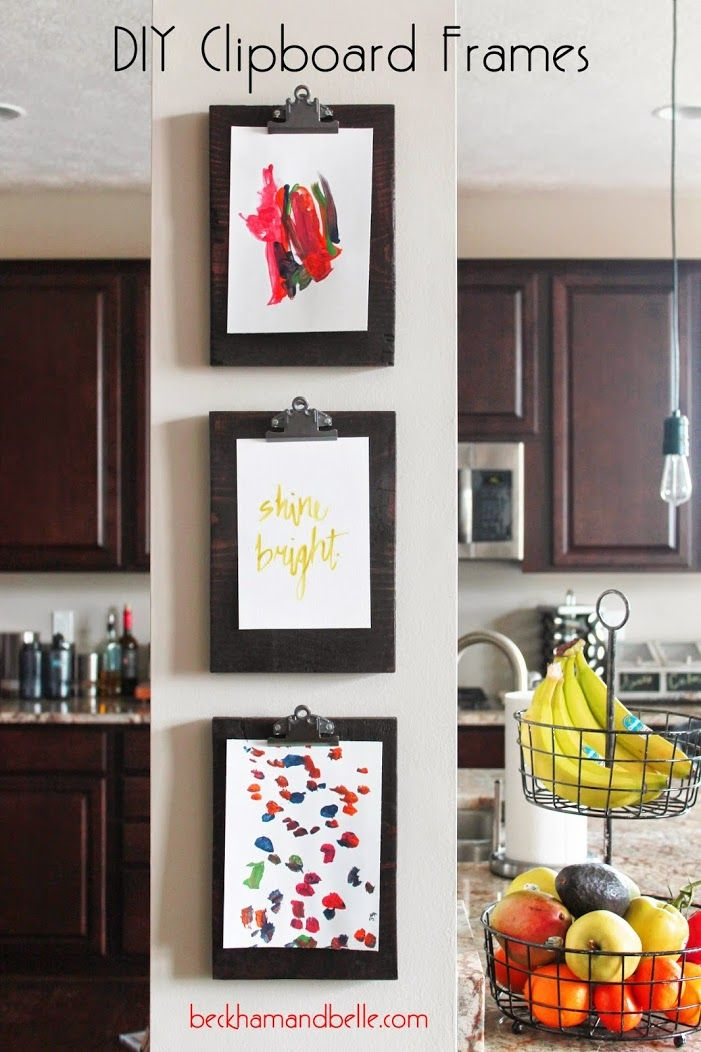 Diy Clipboard Frame Gallery A Place Other Than Your Fridge To