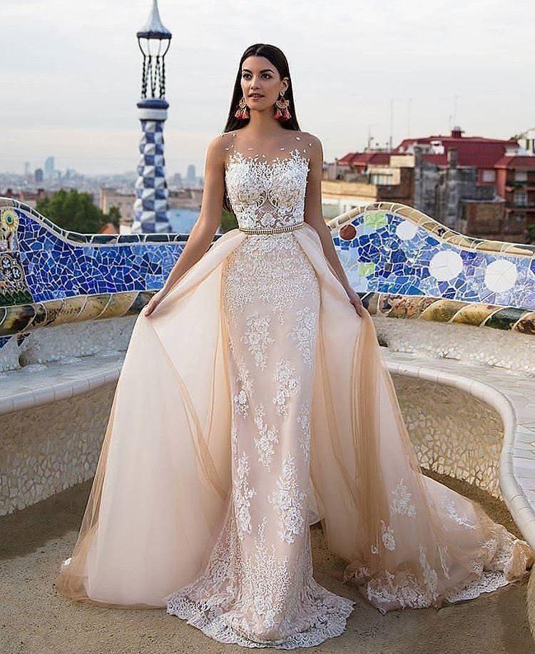 Two skirt wedding dress. Two skirt wedding dress Champagne Wedding Dresses 9cffe2f79729