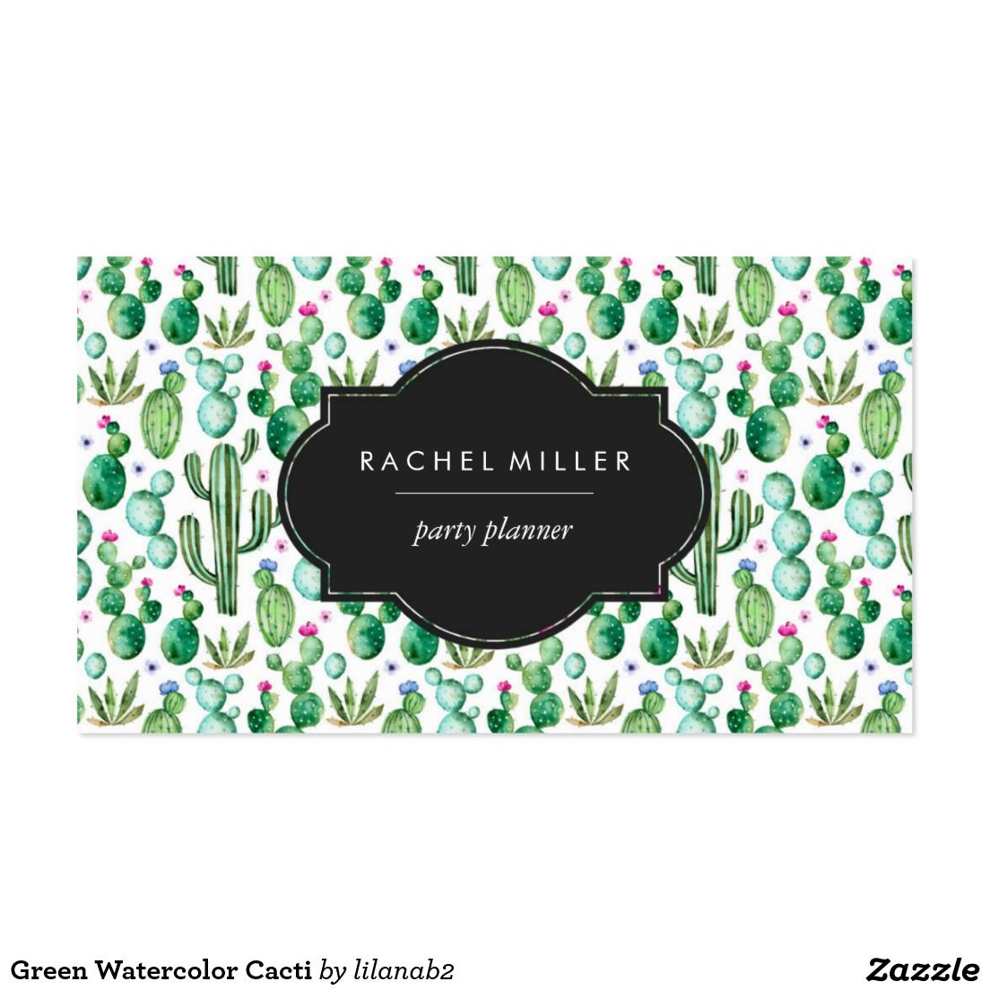Green watercolor cacti business card zazzle zazzle businesscards green watercolor cacti business card zazzle zazzle businesscards watercolor cactus reheart Gallery