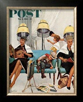 Norman Rockwell Norman Rockwell Vintage Beauty Salon