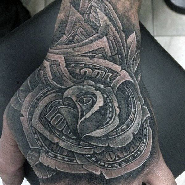 Top 81 Money Rose Tattoo Ideas 2020 Inspiration Guide Money Rose Tattoo Tattoos For Guys Hand Tattoos