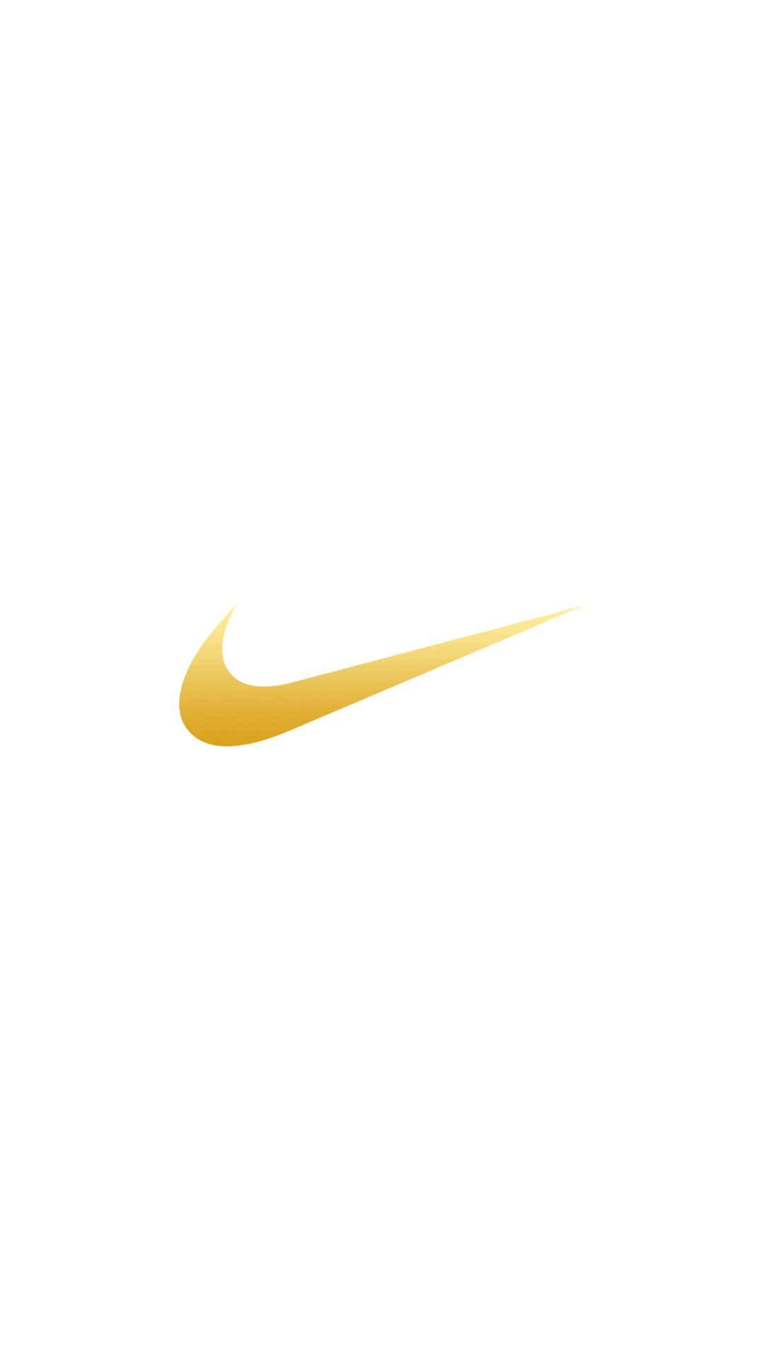 Nike Logo Gold Iphone Wallpaper In 2020 Nike Logo Wallpapers Nike Background Nike Wallpaper