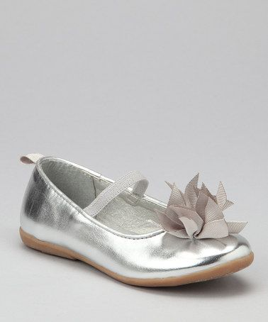 Take a look at this Silver Bombom Ballet Flat by Carter's on #zulily today!