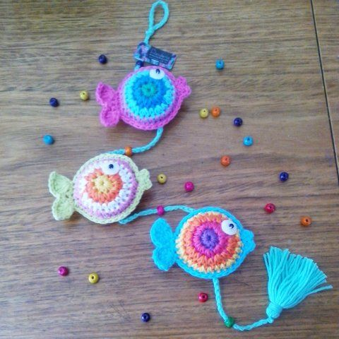 Colgante Peces *Junio 2x1* - comprar online | puntos en crochet con ...