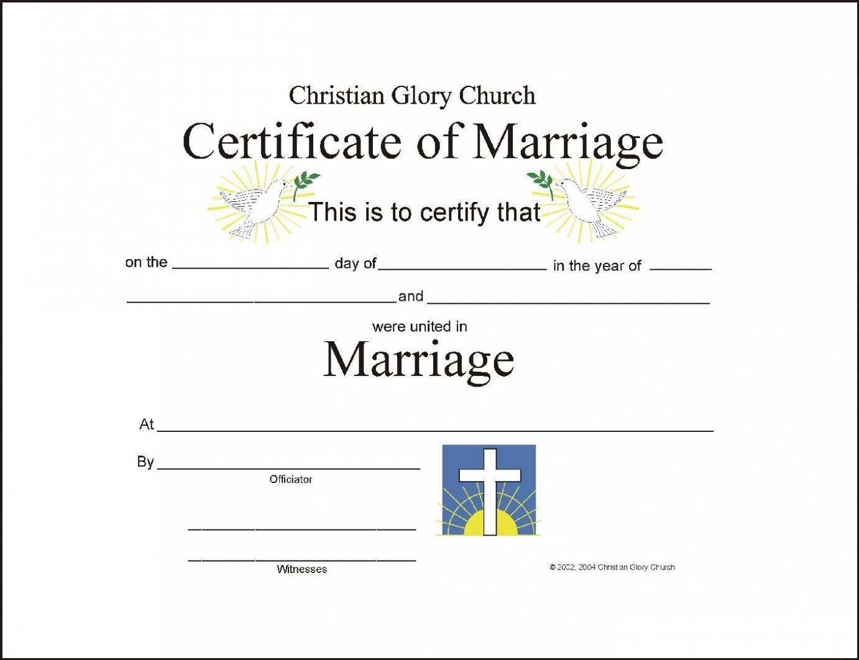 Christian Wedding Certificate Sample Google Search Wedding