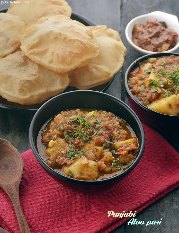 Punjabi Aloo Puri Recipe Delhi Street Food
